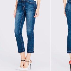 Micheal Kors Izzy Skinny Frayed Hem Jeans